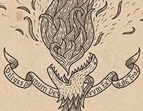 Sulfur, Mercury & Salt – alchemic illustrations