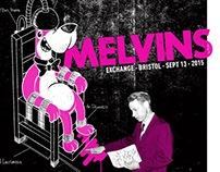 Melvins, Bristol '15 - Gigposter