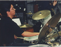 Performing on drums/percussion