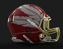 Redesigned NFL Helmets (minimal design)