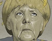 Angela Merkel and the flag
