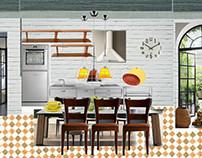 Kitchen: steel & wood