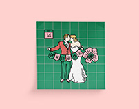 wedding invitations : grid line