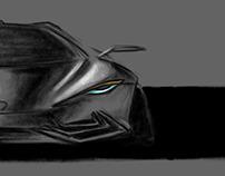 تصميم لسيارة رياضية