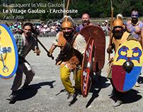 L'attaque Romaine - Le Village Gaulois - L'Archéosite