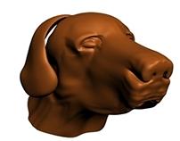 Dog 3D head
