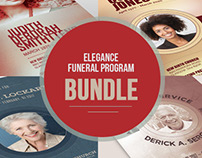 Remembrance Funeral Program Bundle