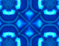various blue color way pattern designs