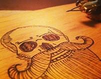 Bearded Skull - Pyrography