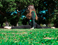 Yoga session photography
