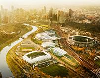 Melbourne Park Redevelopment Eastern Plaza