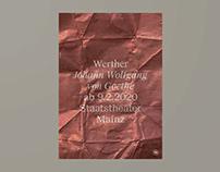 Staatstheater Mainz – Werther (Poster)