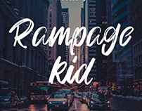 Freebie - Rampage Kid Brush Fonts