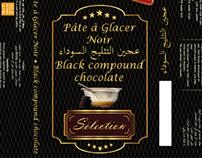 """Packaging - Pâte à Glacer """" Noir, au lait, et blanche"""""""