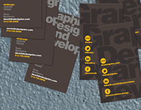Selection of business card design
