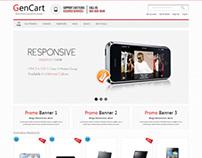 Gencart, Magento Responsive Technology Shop Theme