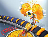 Cheetos Mac-n-Cheese Chester Illustration