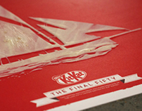 Posters: Kit Kat White- The Final Fifty choc posters