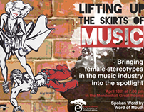 Lifting Up the Skirts of Music Promotional Poster