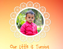 1st Birthday - Invitation & banner work