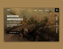 Gaming website (header part)
