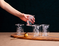 Glass tableware for Pantuniestał.