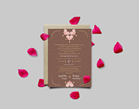 Jyothika Weds Sanjay - Floral Wedding invite