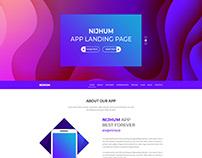Nijhum App Landing Page PSD Template