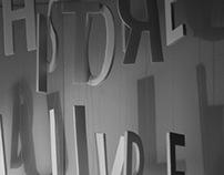 L'HISTOIRE DU LIVRE D'ARTISTE - typographic poster