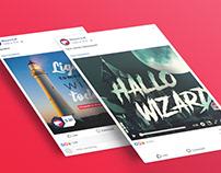 Social Media: Wizard English School