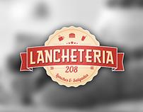 """""""Lancheteria 208"""" logo design"""