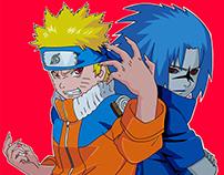 Kyuubi Naruto VS Curse seal Sasuke