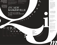 ITC NEW BASKERVILLE - typographic poster