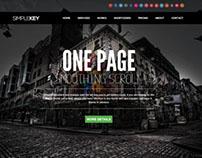 SimpleKey :: One Page Portfolio Joomla Template