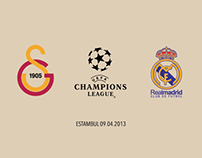 Real Madrid Galatasaray Champions League Signage Prints