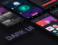 Dark Material UI Design