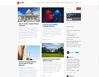 Blog Masonry Right Sidebar Page - Politic WP Theme