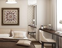 """Дизайн спальни """"Кофе с молоком"""", design bedroom"""