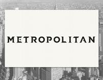 Metropolitan font by Martin Gaard