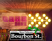 "Bourbon St Bar - ""Game Zone & Public Zones"" Concept"