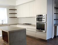 Cubierta de cocina de concreto
