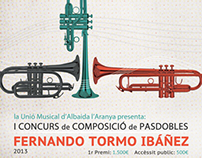 Cartell, díptic i banner. Concurs musical (2013)