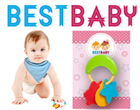 Unisex baby toy and package design.