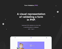 Visual Representation of PHP Form Validation