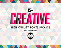 15+ Creative High Quality Fonts Package Free Download