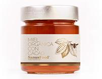 Diseño etiquetas miel SanusFood