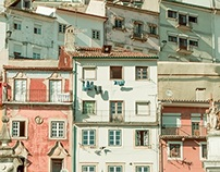 The pastel colors of Coimbra