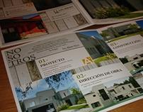 A3 Arquitectura | Díptico institucional