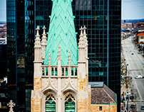 Church With Green Copper Rooftop (Cleveland, Ohio)