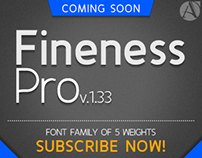 "Preview ""Fineness Pro"" Font Family"